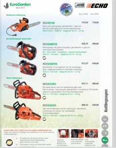 kettingzaag kettingzagen elektrische zagen motorzaag tuinmachines timmermans verkoop verhuur onderhoud herstelling reparatie
